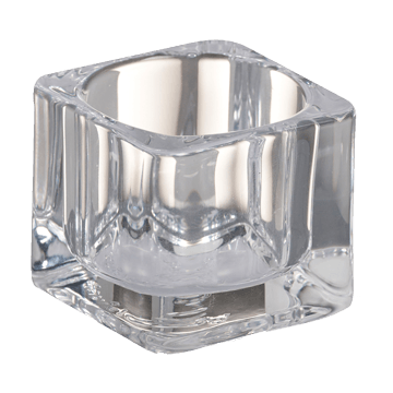 Bolsius glass holder tealights square