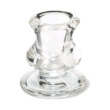 Bolsius glass holder table candles